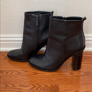 Tory Burch Black Leather Booties 9.5